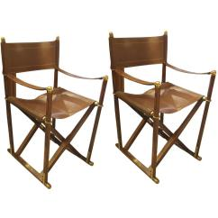 Leather Directors Chair Arm Covers For Recliners Pair Of French Rosewood And Director Chairs Sale At 1stdibs