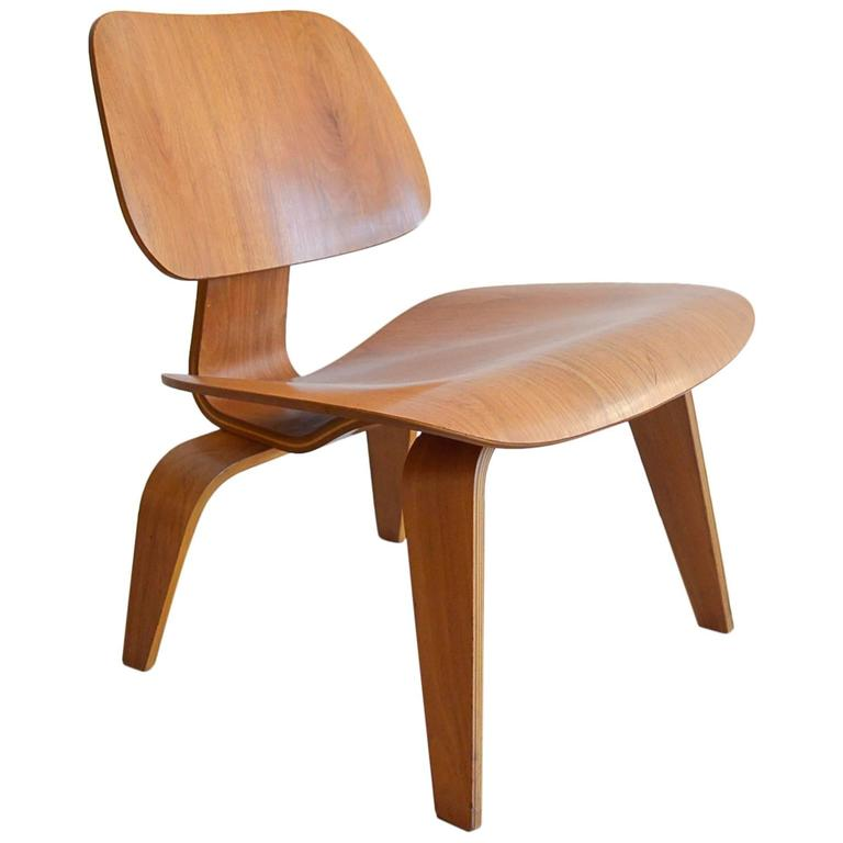 bent wood chair leather lounge early eames lcw bentwood at 1stdibs for sale