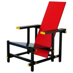 Red Blue Chair Timed Stand Test Kngf And By Gerrit Thomas Rietveld For Sale At