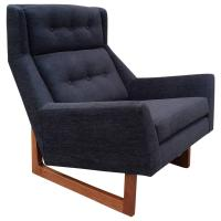 Mid-Century Modern High Back Lounge Chair in the Style of ...