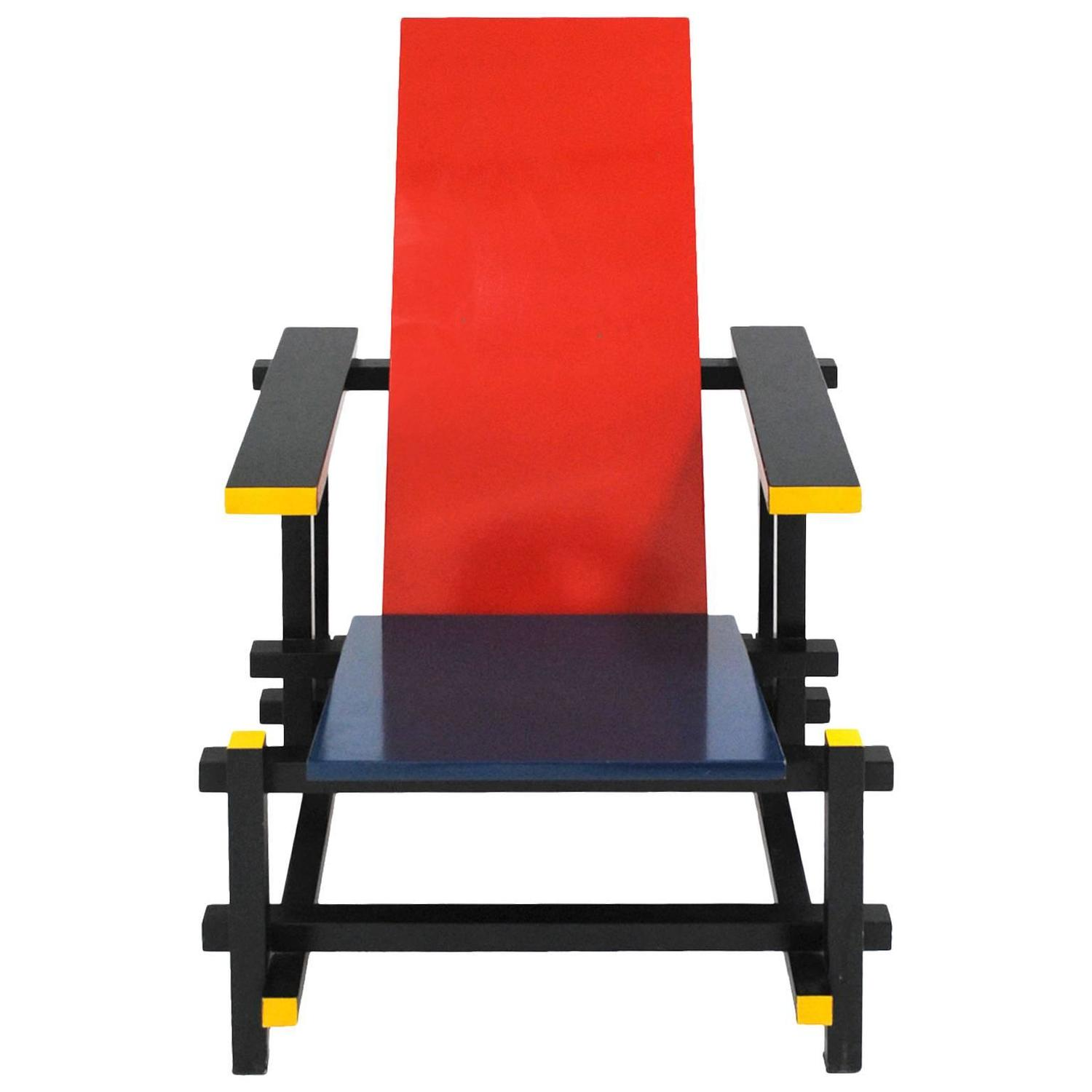 gerrit thomas rietveld chair sling back red and blue 365 by for