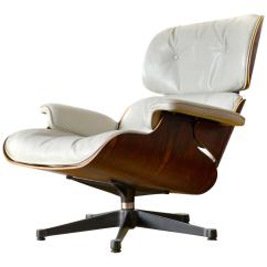 Charles Eames Lounge Chair Clayton Marcus Chairs White Leather For Sale At 1stdibs
