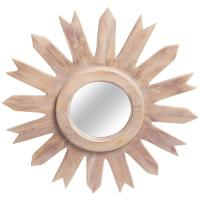 Wooden Starburst Mirror at 1stdibs