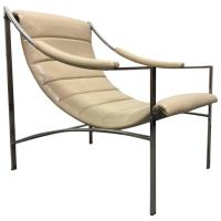 Mid-Century Modern Leather and Chrome Lounge Chair For ...
