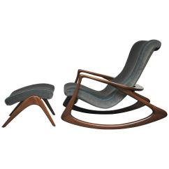 Vladimir Kagan Rocking Chair White Leather Swivel Office With Ottoman For Sale At 1stdibs