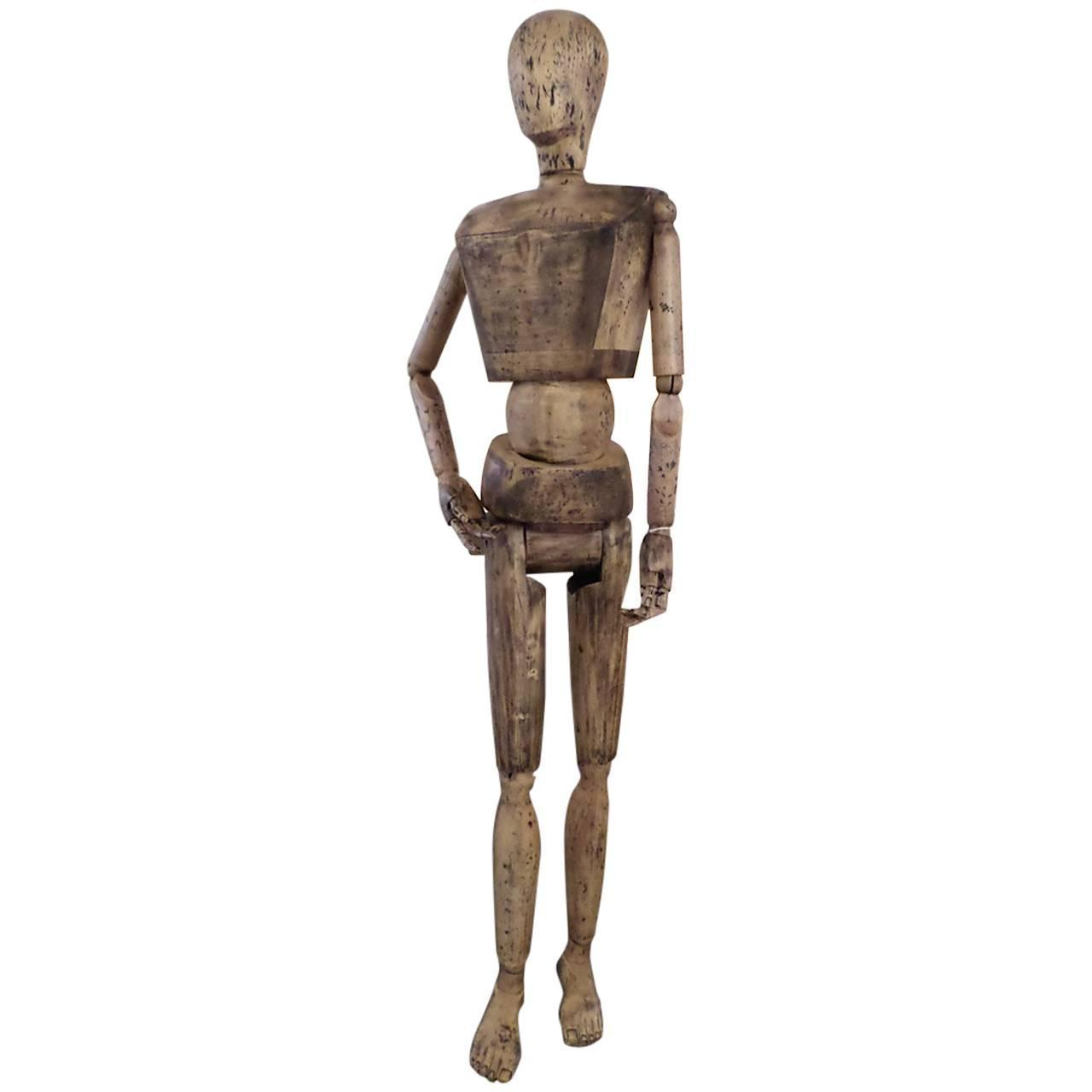 back of chair mannequin stand booster age incredible fully articulated wooden at 1stdibs