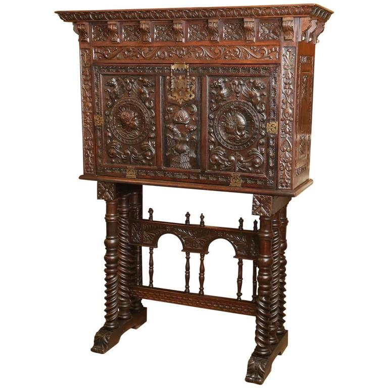 Spanish Varqueno Writing Desk For Sale at 1stdibs