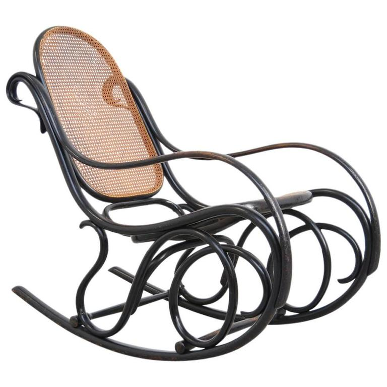 Old Original Rocking Chair by Michael Thonet for Gebruder