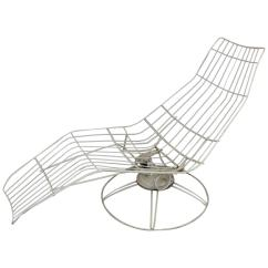 Folding Banana Lounge Chair Plastic Bar Chairs Bunnings Homecrest Metal Wire For Sale At 1stdibs