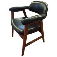 Mid-Century Black Office Chair at 1stdibs
