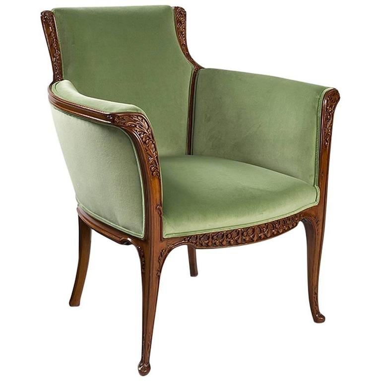 French Art Nouveau Armchair by Louis Majorelle at 1stdibs