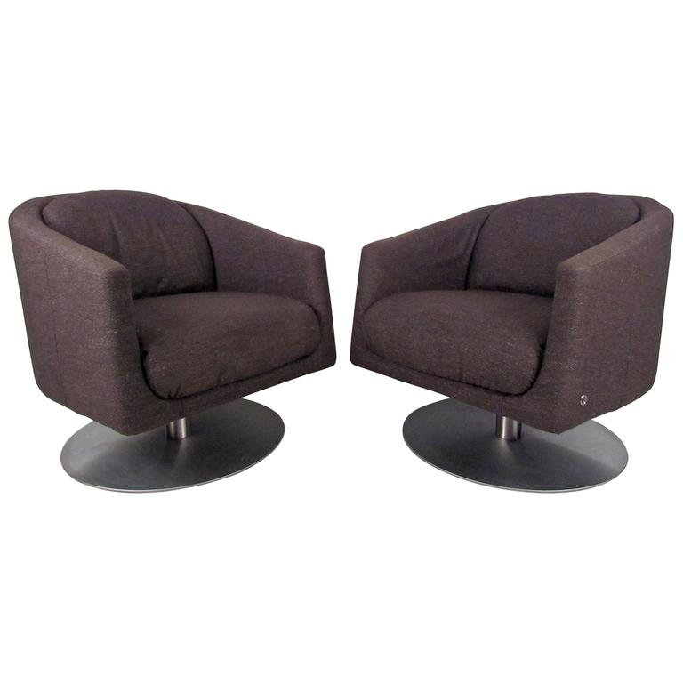 natuzzi lounge chair outdoor chairs target pair of mid century swivel at 1stdibs for sale