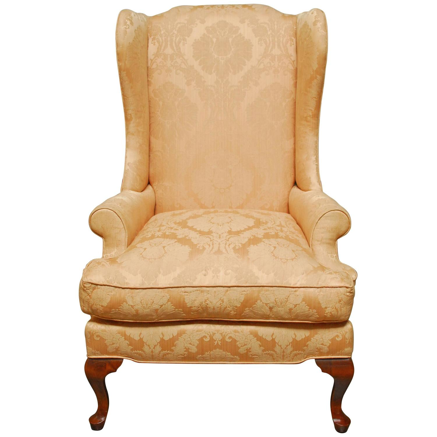 wingback chair for sale faux leather dining room chairs queen anne mahogany wing at 1stdibs