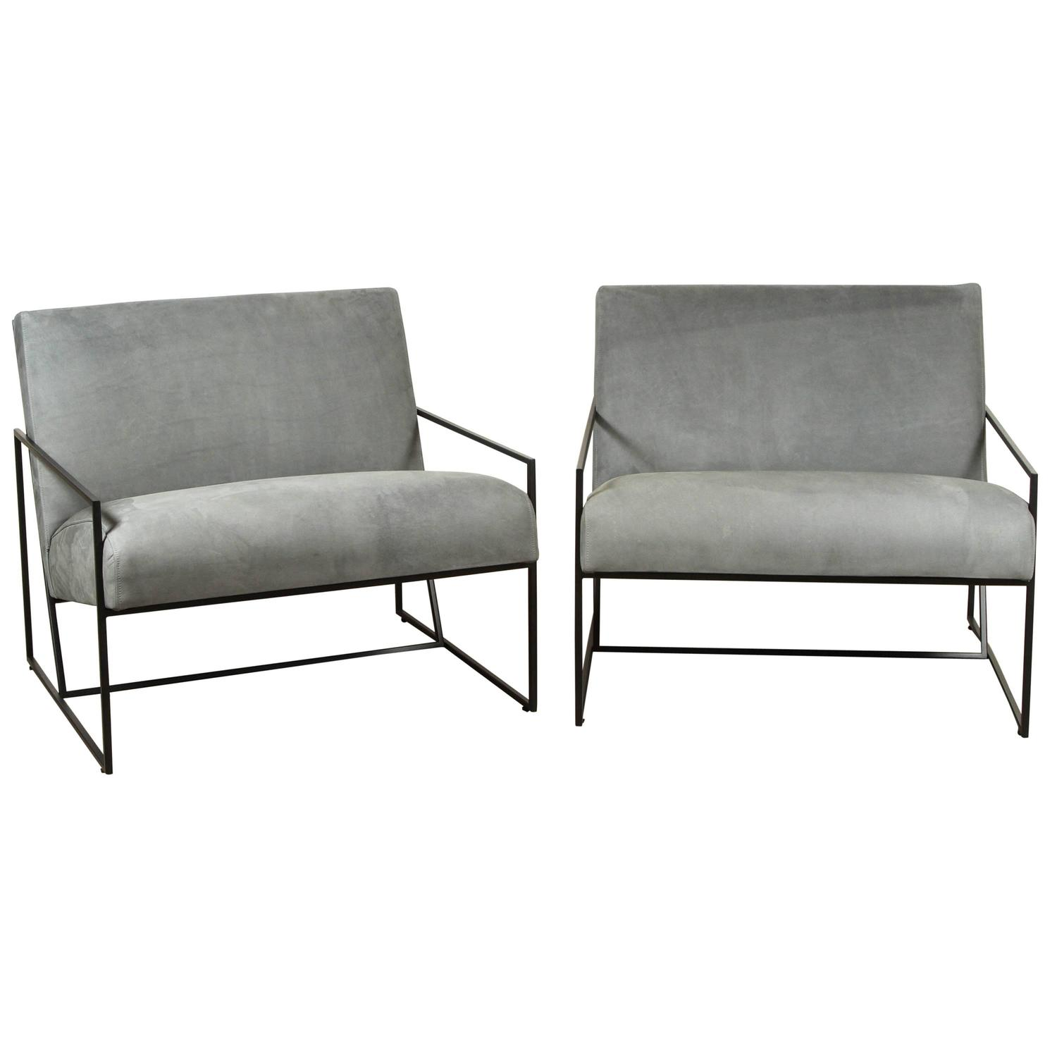 metal frame chairs coleman oversized quad chair thin lounge by lawson fenning for sale at 1stdibs