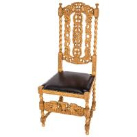 Carved English Baroque Dining Chairs at 1stdibs