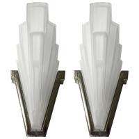 Pair of French Art Deco Sconces by Sabino For Sale at 1stdibs