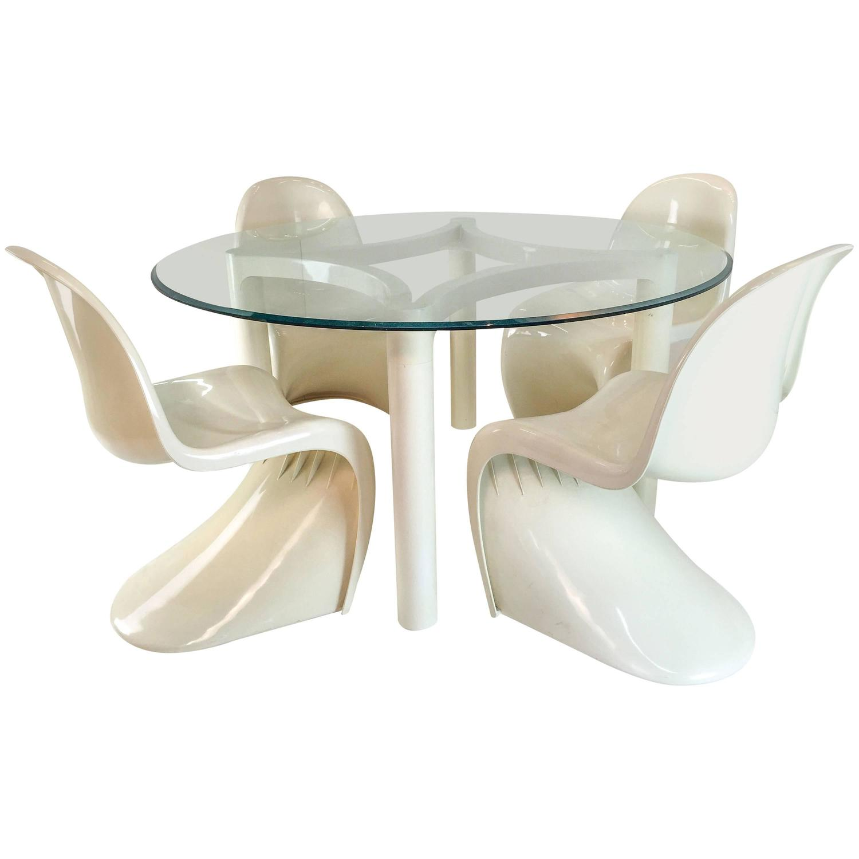 vernon panton chair bears bean bag dining table or game set at 1stdibs