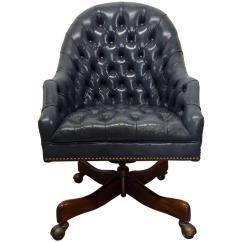 Tufted Desk Chair Fishing Spare Parts Schafer Bros Leather For Sale At 1stdibs
