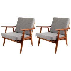 Teak Lounge Chair Loose Dining Room Covers Uk Hans Wegner Ge 270 Danish Chairs At 1stdibs