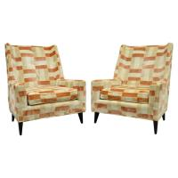 Pair of Harvey Probber Mid-Century Modern Curved Back ...