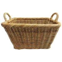 Large Wicker Basket with Handles at 1stdibs