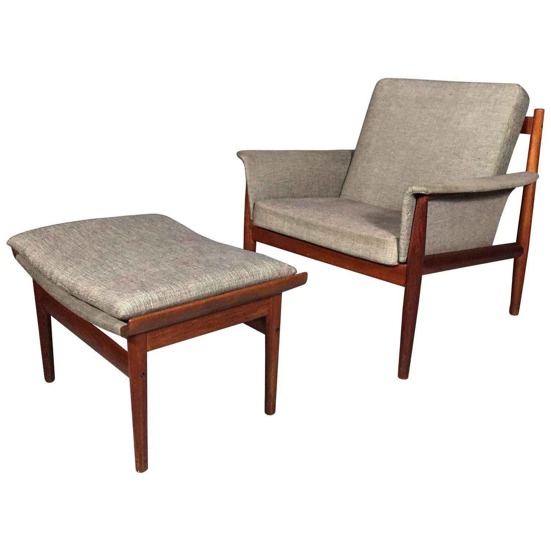 teak lounge chair director covers diy finn juhl and ottoman france son