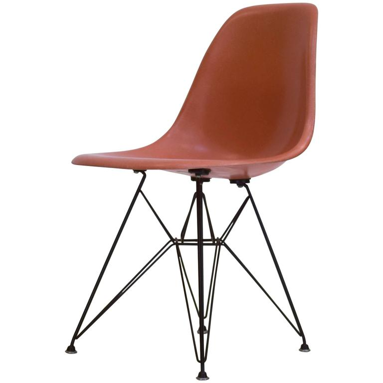 eames bucket chair recycled plastic outdoor rocking chairs shell on original eiffel base 1950s for sale at 1stdibs
