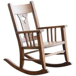 Craftsman Rocking Chair Styles Smitten Baby High Cover Era Child 39s Solid Oak For Sale At