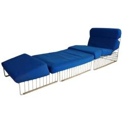 Patio Chairs With Footrests Dodge Durango Captains Pair Of Mid-century Modern Wire Iron Cage Chaise Lounge At 1stdibs