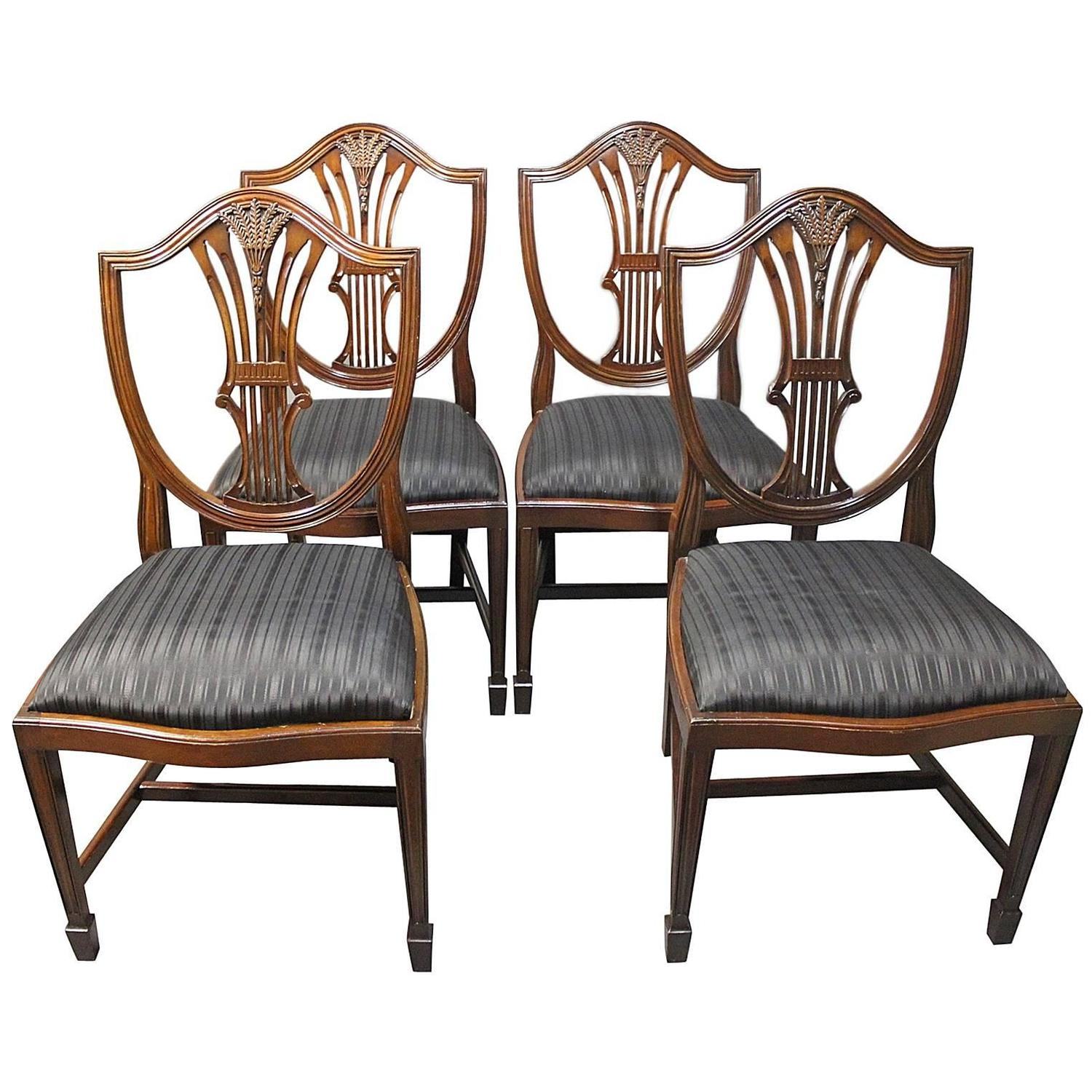 dining room chairs sets of 4 pottery barn kids chair slipcover set four antique hepplewhite in