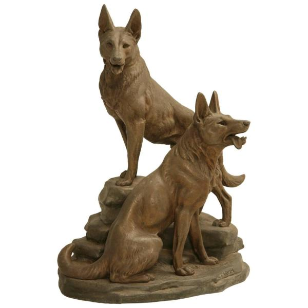 Bronze Statue German Shepherd Dog