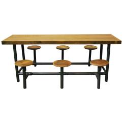 Lunch Room Chairs Chair Anatomy Design And Construction Factory Flip Table At 1stdibs