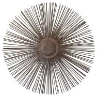 Brutalist Metal Sunburst Wall Sculpture at 1stdibs