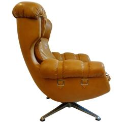 Swivel Chair Egg Cast Aluminum Patio Chairs Canada Shaped Armchair 1970 At 1stdibs