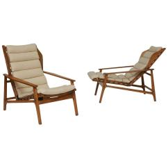 Gio Ponti Chair Brown Leather Dining Pair Of Lounge Chairs At 1stdibs