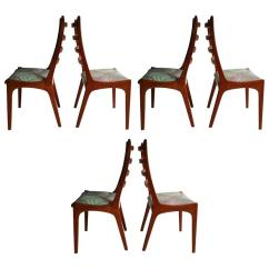 Ladderback Dining Chairs Toilet Chair Height Or Standard Set Of Six Danish Modern Teak Ladder Back By Kai Kristiansen For Sale