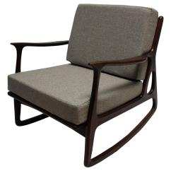 Z Chair Mid Century The Is Against Wall Modern Italian Upholstered Walnut Rocking