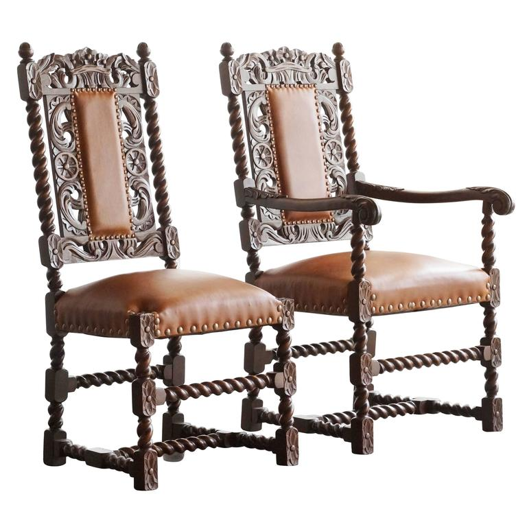 british colonial chair 2 garden set pair of antique spanish style barley twist chairs. 1890s at 1stdibs
