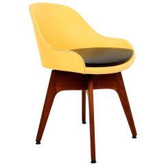 Revolving Chair And Arm Rocker Mid Century Danish Modern Walnut For Sale