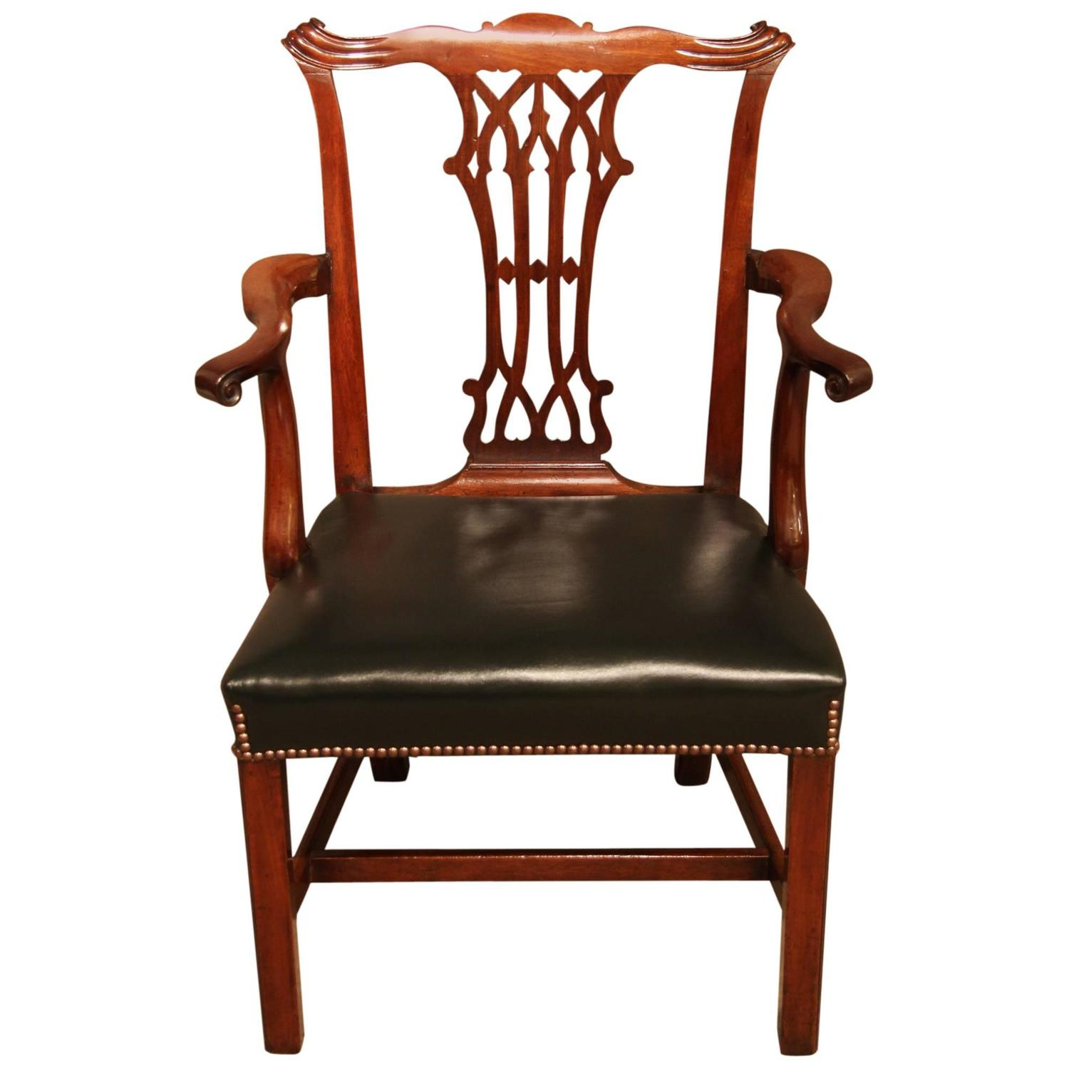 chair with desk arm svan signet high chippendale period mahogany or circa 1770