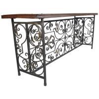 French Wrought Iron and Brass/Bronze Console Table For ...