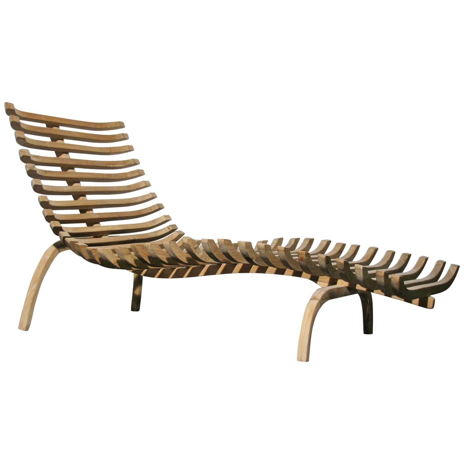 teak chaise lounge chairs sale shower sculptural for at 1stdibs