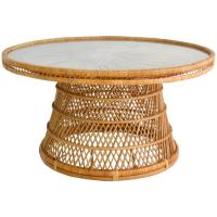 Mid-Century Woven Rattan Coffee Table/Cocktail Table For ...