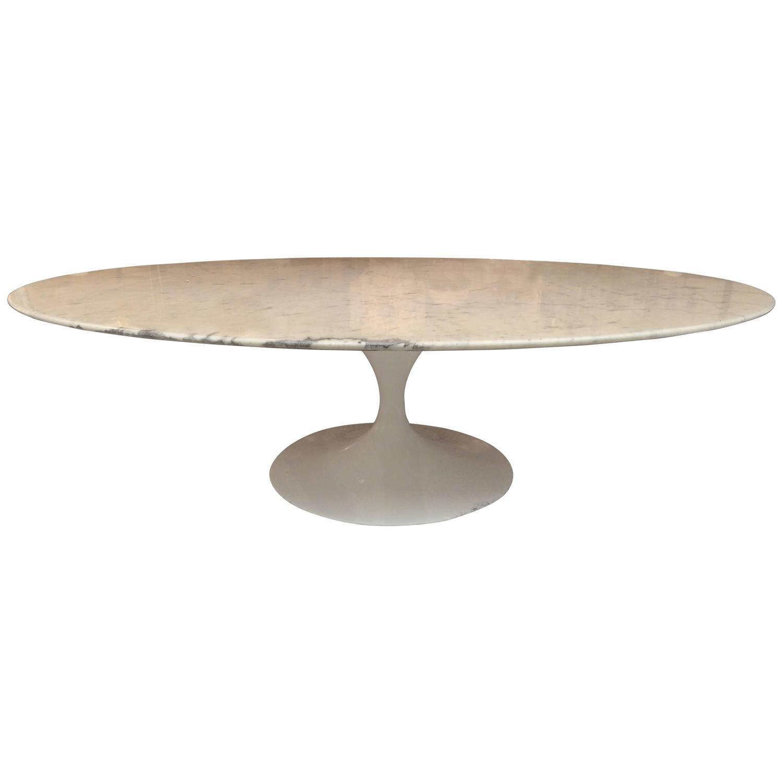 Eero Saarinen Marble Oval Coffee Table at 1stdibs