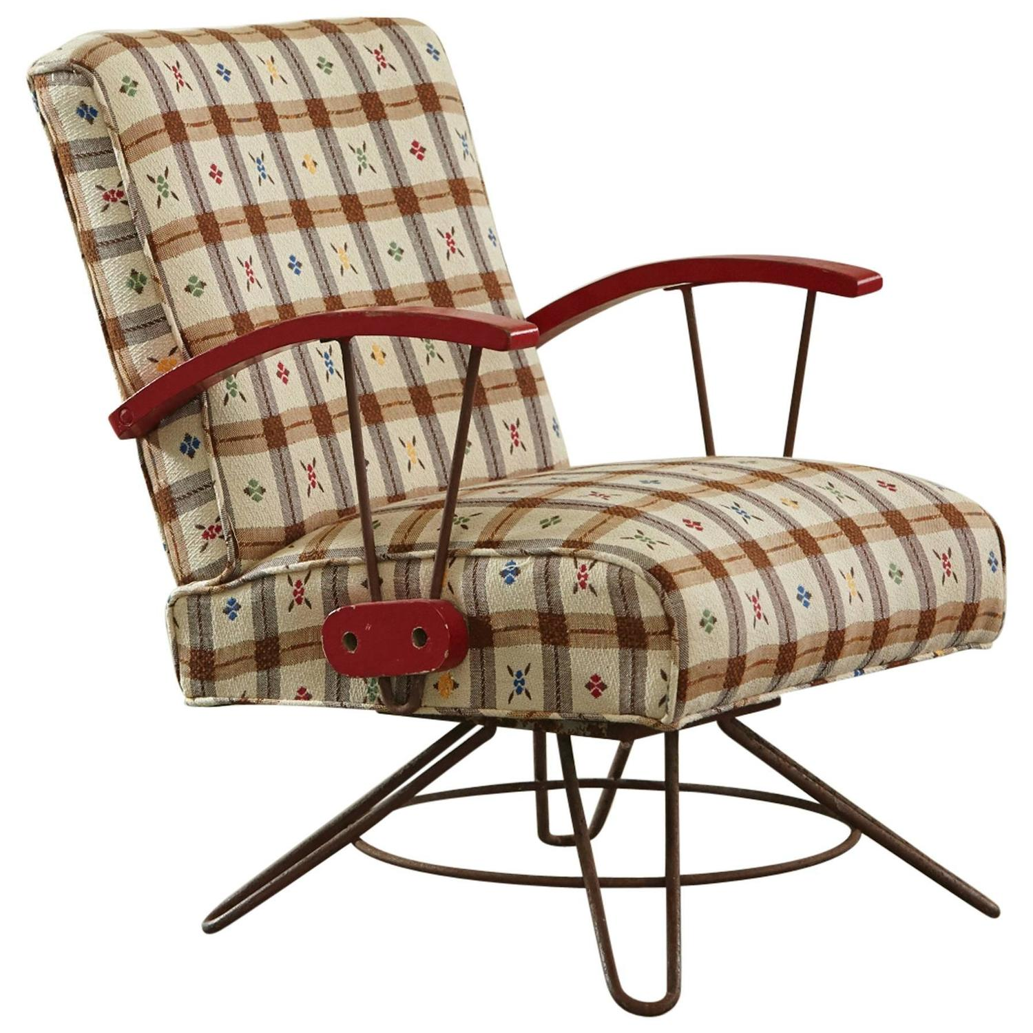 swivel patio chairs sale grey velvet slipper chair and swing on steel base 1940s for