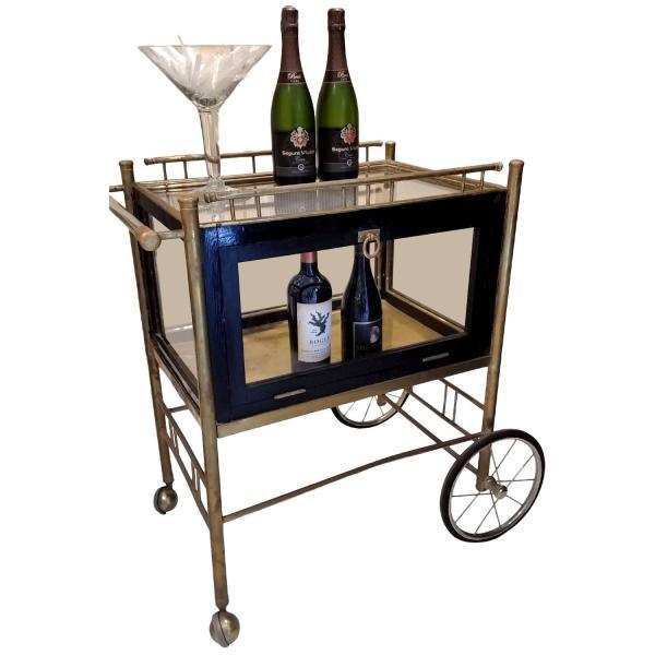 Vintage Bar Carts On Wheels