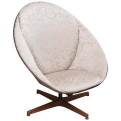 Swivel Chair Egg White Accent Chairs Under 100 Rare Early Edition Plycraft Wooden 1950s