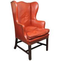 George III Mahogany Wing Chair at 1stdibs