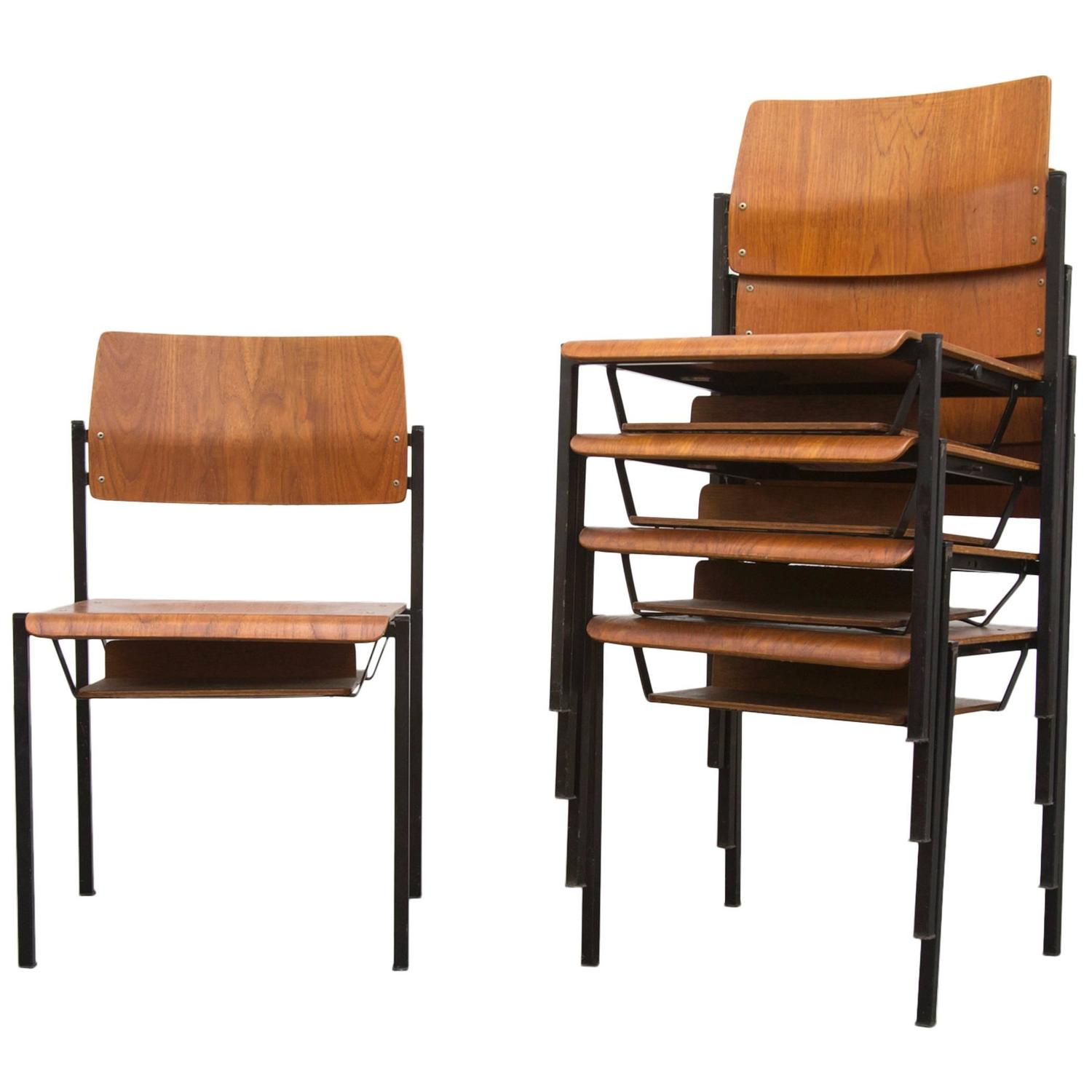 stackable church chairs painting dining room thonet stacking with book cubby at 1stdibs
