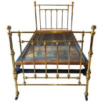 Antique Bed Victorian Single Brass Bed 19th Century Base ...